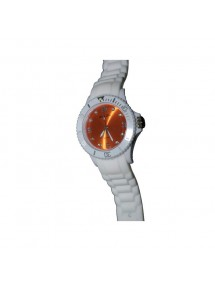 Montre Sport Unisex - blanche et orange