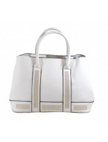 Leather effect handbag Tom&Eva - White