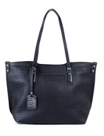 Cabas perforated area Tom & Eva - Black