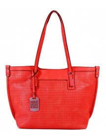 Cabas perforated area Tom & Eva - Watermelonred