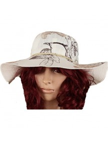 Polyester printed Chapeau