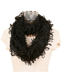 Black winter scarf