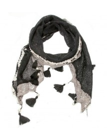 Scarf black and gray winter