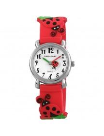 Montre Coccinelles Excellanc bracelet en silicone rouge 4200003-002 Excellanc 24,00€