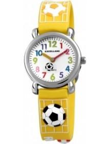 Montre Football Excellanc bracelet en silicone jaune 4500027-002 Excellanc 19,90€