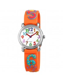 Watch with large colored numbers Excellanc orange silicone strap 4500020-004 Excellanc 19,90 €