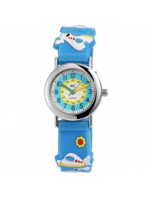 MC Timetrend watch, blue silicone strap, small planes 50391 MC Timetrend 19,90€
