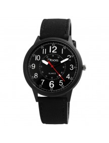 QBOS Men's Watch with Analog Quartz and Black Synthetic Leather 2900180-002 QBOSS 18,00 €