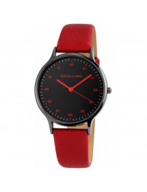 Excellanc ladies watch with burgundy synthetic leather strap 1900212-003 Excellanc 18,00 €