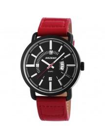 Montre Akzent pour homme avec bracelet en similicuir rouge foncé SS7571000022 Akzent 19,90€