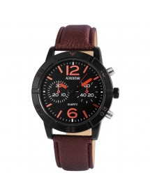 Aerostar men's watch with imitation brown leather strap 211071200002 Aerostar 19,90 €