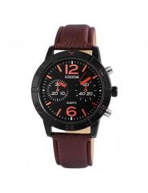 Montre Aerostar pour homme avec bracelet imitation cuir marron 211071200002 Aerostar 19,90€