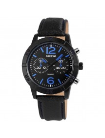 Aerostar men's watch with imitation black leather strap 211071500002 Aerostar 19,90 €