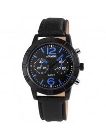 Montre Aerostar pour homme avec bracelet imitation cuir noir 211071500002 Aerostar 19,90€