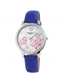 Donna Kelly watch for women with imitation leather strap Blue 191023000001 Donna Kelly 15,00€