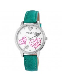 Donna Kelly watch for women with imitation green leather strap 191026000001 Donna Kelly 14,00€