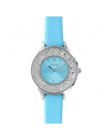 Light blue Lutetia watch, dial with synthetic stones and bracelet 750103BL Lutetia 56,00 €