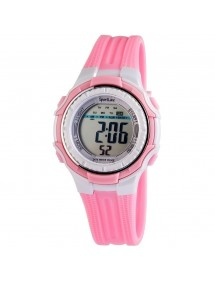 Sportline ladies watch with pink and gray silicone strap 1400002-001 Sportline 16,00 €