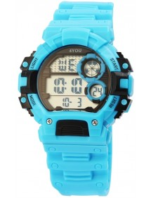 4YOU Quartz Digital Watch Light Blue Silicone Strap 250010001 4You 29,90 €