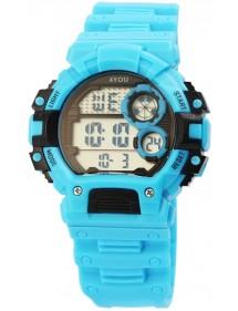 Montre numérique à Quartz 4YOU bracelet Silicone bleu clair 250010001 4You 29,90€
