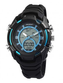 copy of Akzent men's blue and black watch with silicone strap 24200019-001 Akzent 39,90 €