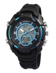 Montre homme Akzent analogique Digital Quartz bracelet en silicone 24200019-001 Akzent 39,90€