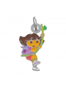 DORA pendant with a liana in enamel and rhodium-plated sterling silver 3161044 Dora l'exploratrice 36,00 €