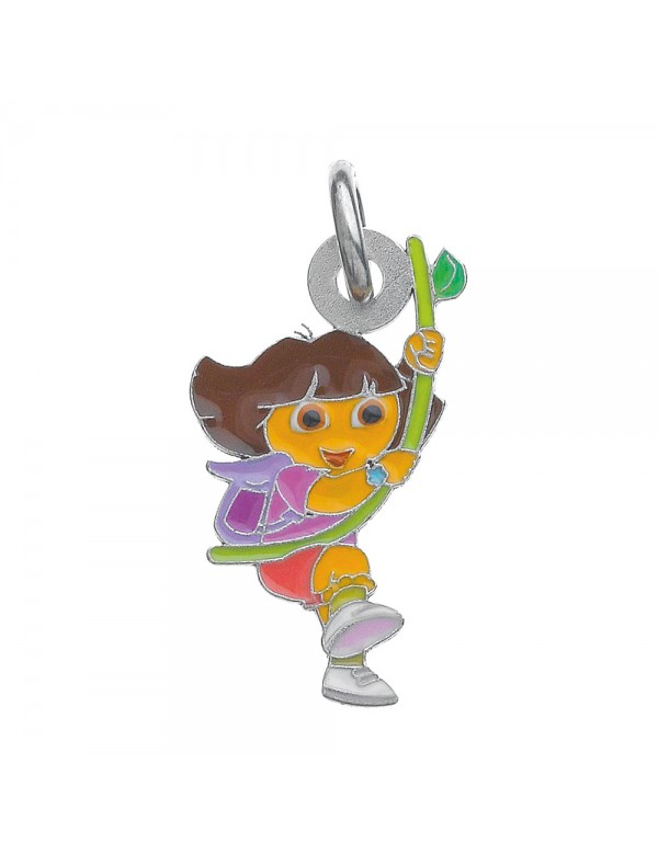 DORA pendant with a liana in enamel and rhodium-plated sterling silver 3161044 Dora l'exploratrice 36,00€