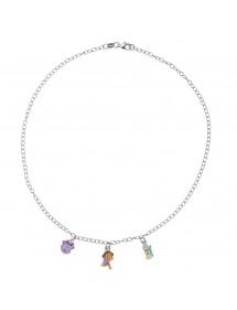 DORA L'EXPLORATRICE Halskette aus Rhodiumsilber und Emaille 3170968 Dora l'exploratrice 89,90€