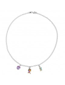 DORA L'EXPLORATRICE necklace in rhodium silver and enamel 3170968 Dora l'exploratrice 89,90€