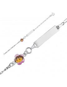 DORA L'EXPLORATRICE bracelet in 925/1000 rhodium silver and enamel 3181065 Dora l'exploratrice 54,00€