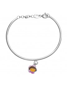 Rigid bracelet DORA L'EXPLORATRICE in rhodium silver and enamel 3181064 Dora l'exploratrice 49,90 €