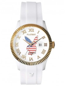PLAYBOY USA 42WG Watch - White USA42WG Playboy 29,90 €