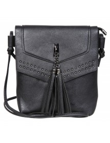 Faux leather handbag with shoulder strap - Black 3600123-003 Sans marque 19,90 €