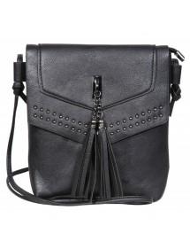 Kunstleder Handtasche mit Schultergurt - Schwarz 3600123-003 Sans marque 19,90€