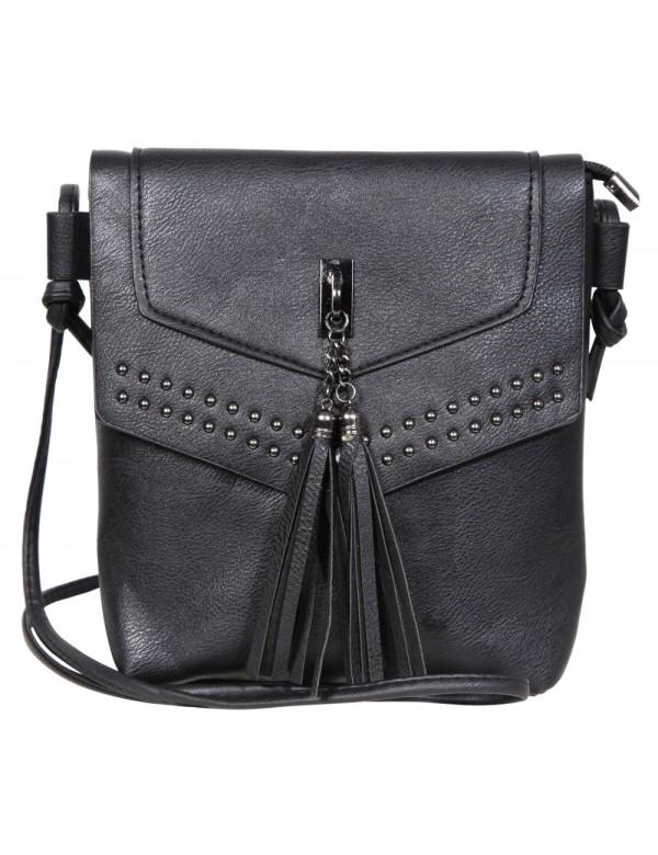 Faux leather handbag with shoulder strap - Black 3600123-003 Sans marque 19,90€