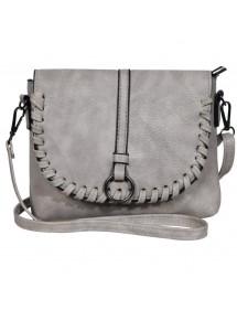 Kunstleder Handtasche mit Schultergurt - Grau 3600131-002 Sans marque 19,90€