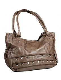 Large handbag 43 x 30 cm - Taupe color 38421 Paris Fashion 18,00 €