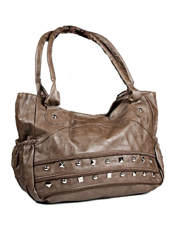 Large handbag 43 x 30 cm - Taupe color 38421 Paris Fashion 18,00€