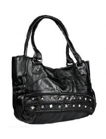 Große Handtasche 43 x 30 cm - Schwarze Farbe 38424 Paris Fashion 18,00€