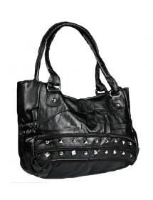 Large handbag 43 x 30 cm - Black color 38424 Paris Fashion 18,00 €