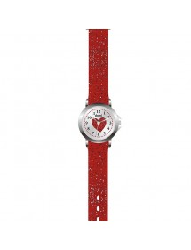 Domi girl's watch, with heart and glittery red plastic strap 753979 DOMI 29,90 €