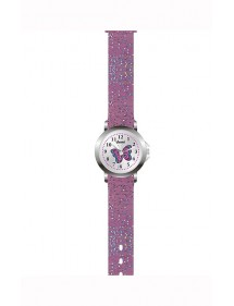 Domi girl's watch, with butterfly and glittery purple plastic strap 753980 DOMI 29,90 €
