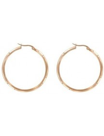Pink steel hoop earrings diameter 35 mm 3131382R One Man Show 29,90€