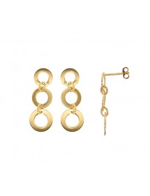 Gold plated 3 circles dangling earrings 3230235 Laval 1878 49,90€
