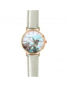 Lutetia Uhr mit Vogelmotiv Zifferblatt und synthetischem Silberarmband 750137 Lutetia 59,90€