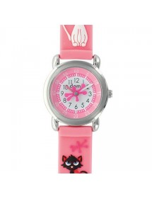 "Children's watch ""Cats"" metal case and pink silicone strap 753968 DOMI 39,90 €"