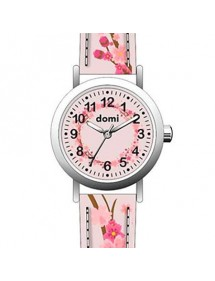 "Girl's watch ""Cherry blossoms"" metal case and pink synthetic strap 753972 DOMI 39,90 €"
