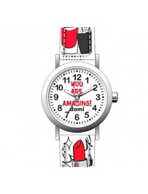 "Girl's watch ""Make-up"" metal case and white synthetic strap 753971 DOMI 39,90 €"