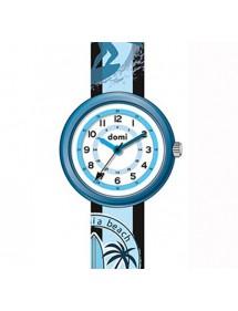 Children's surf-beach watch, metal case and blue plastic strap 753978 DOMI 39,90€